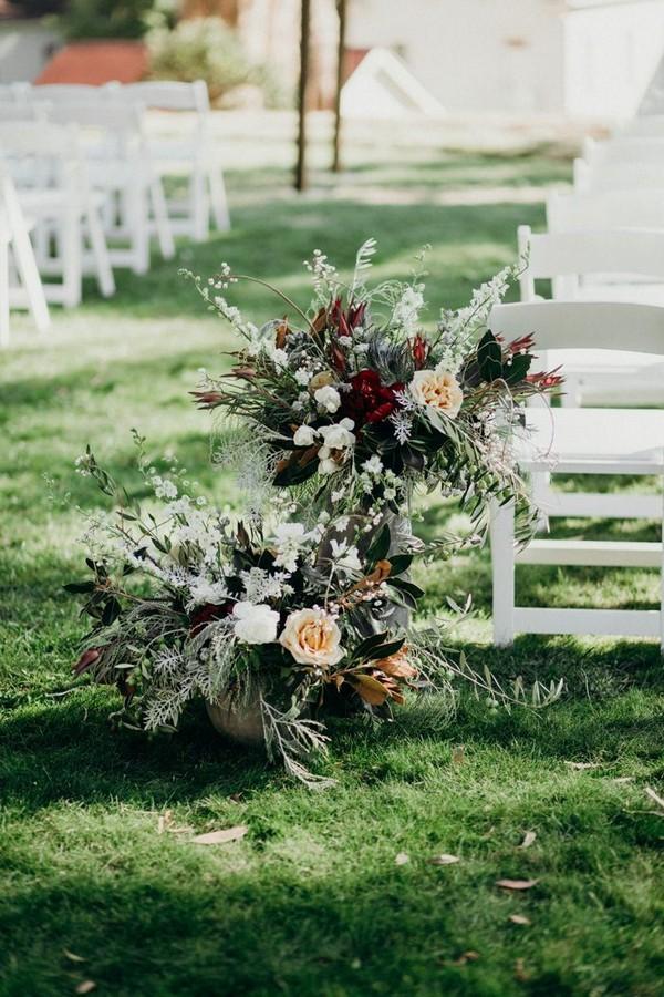 Fall Floral Wedding Aisle Decoration Ideas Emmalovesweddings