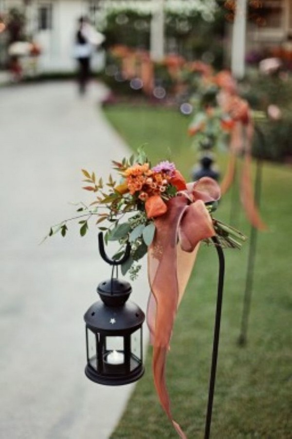 Fall Wedding Aisle Decoration Ideas With Lanterns Emmalovesweddings