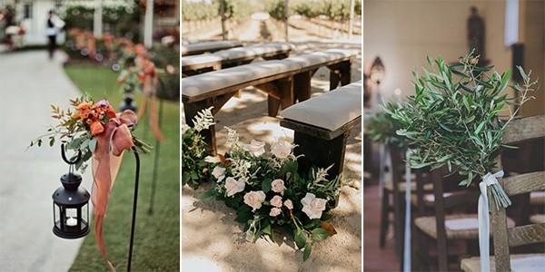 fall wedding aisles