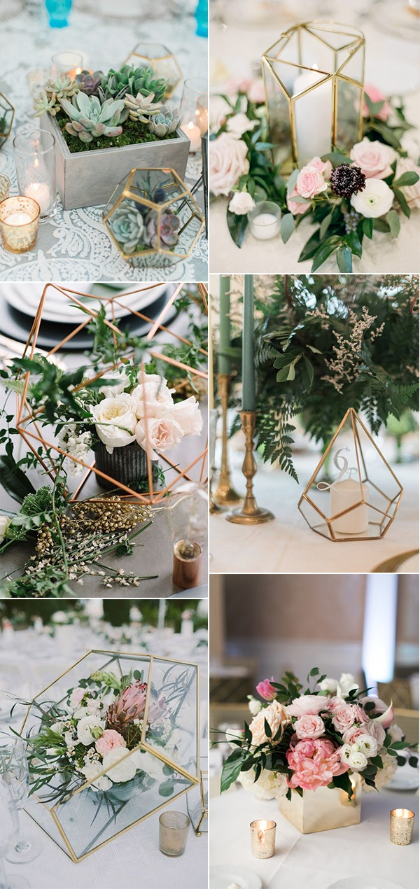 industrial trending wedding centerpieces for spring 2019
