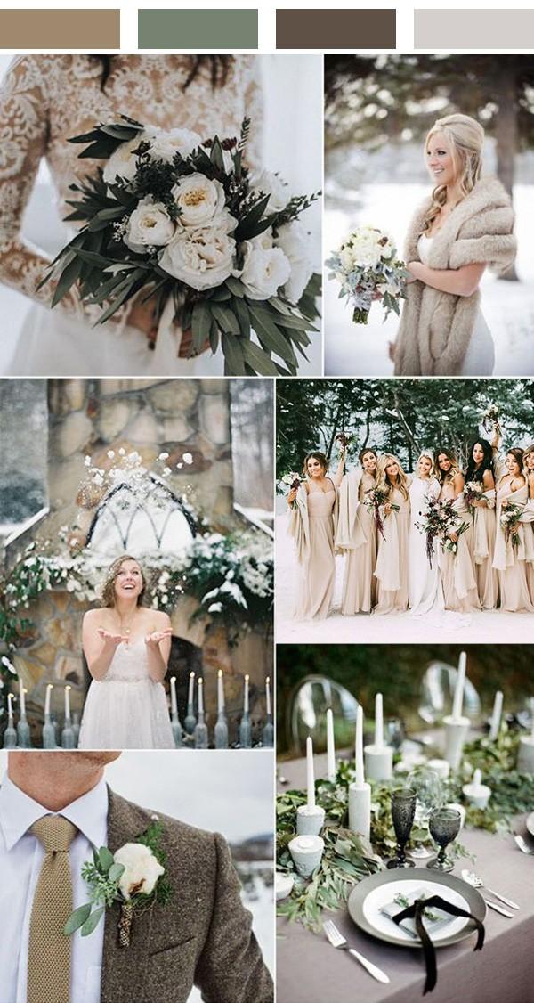 neutral winter wedding color ideas