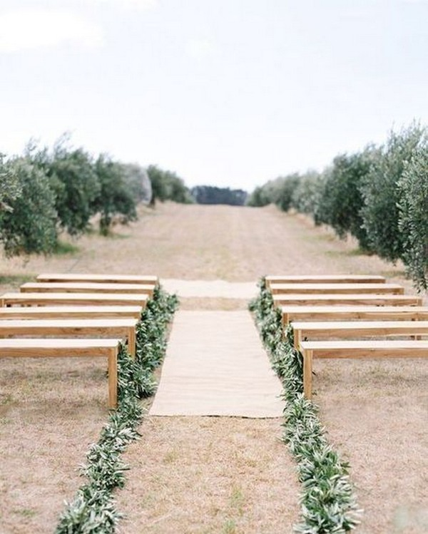 outdoor wedding aisle decoration ideas