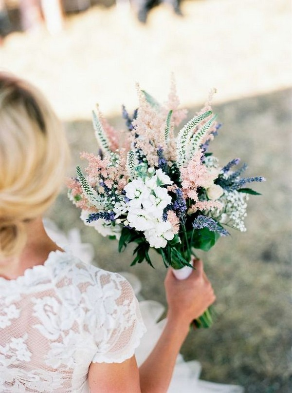 pink and lavender wedding bouquet ideas