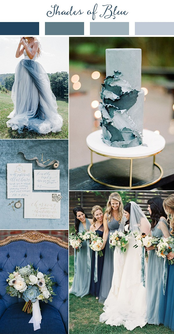 shades of blue wedding color ideas for 2019