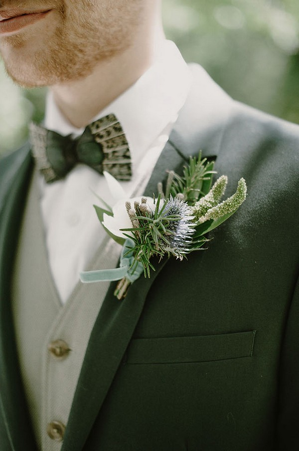 shades of green groom attire ideas