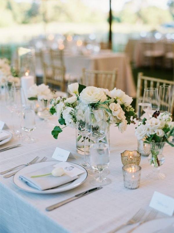 simple and elegant spring wedding centerpiece ideas