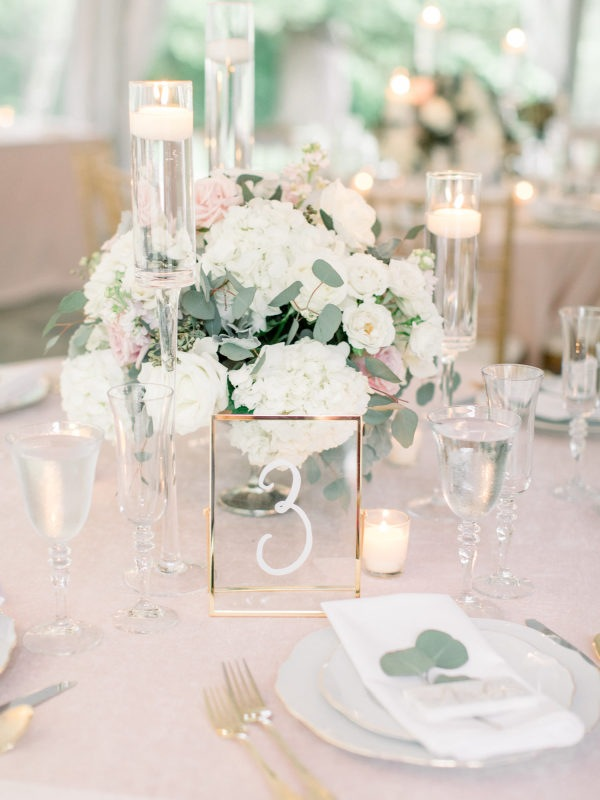spring wedding centerpiece ideas with floating candles