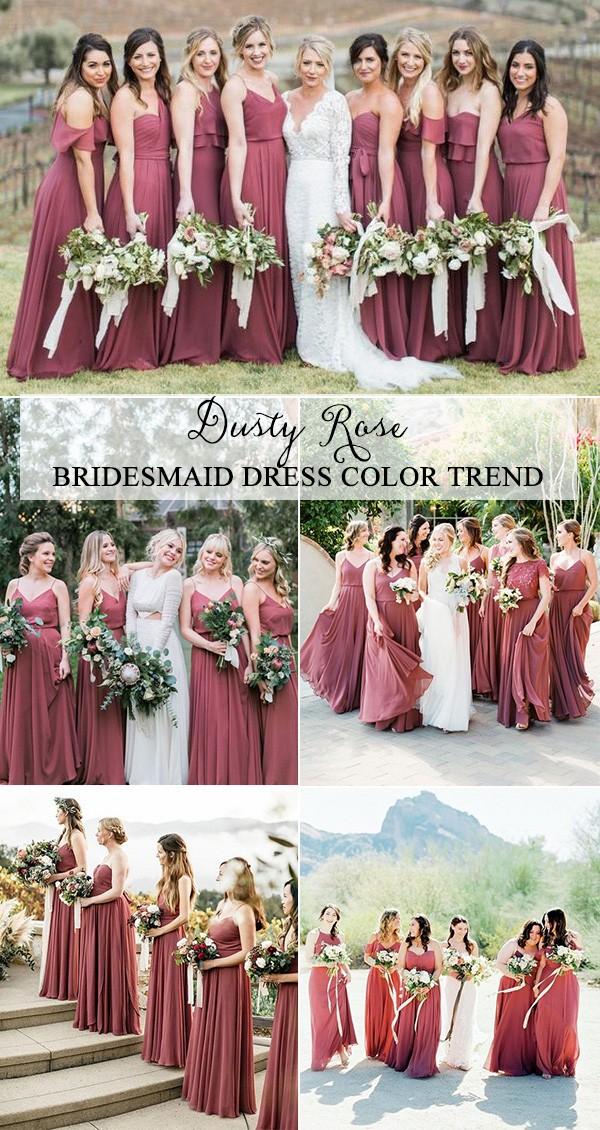 Rose Bridesmaid Dresses Fashion