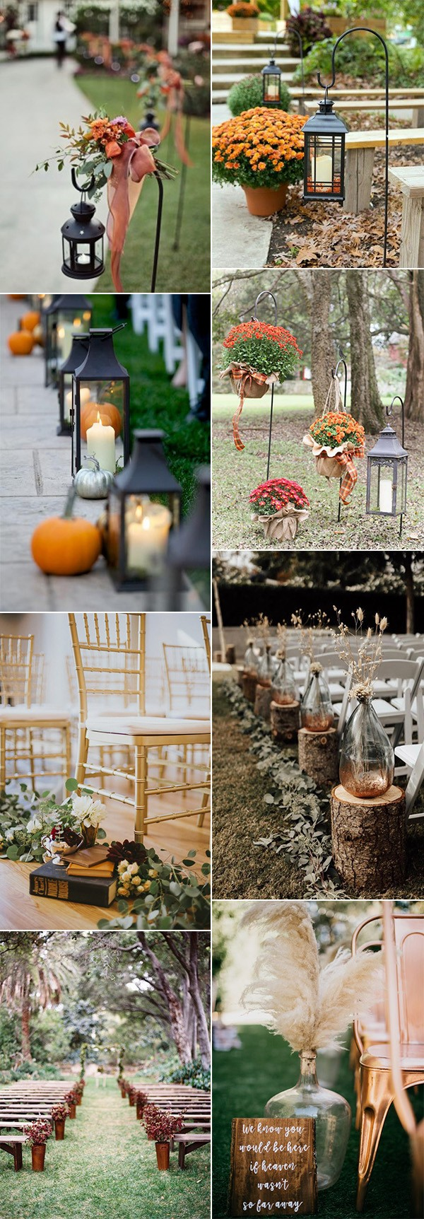 trending fall wedding aisle decoration ideas