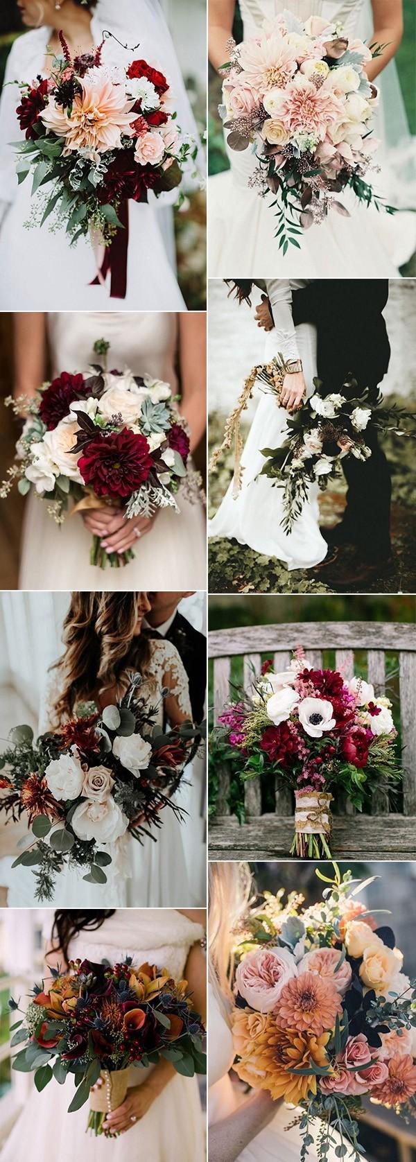 trending fall wedding bouquet ideas