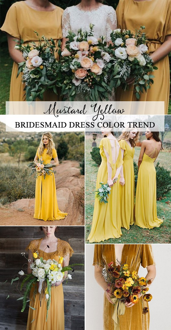 Trending Mustard Yellow Bridesmaid Dresses