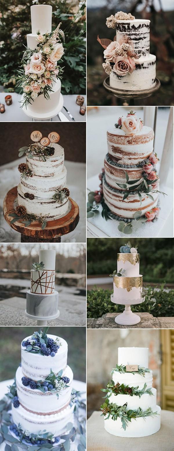 trending winter wedding cake ideas