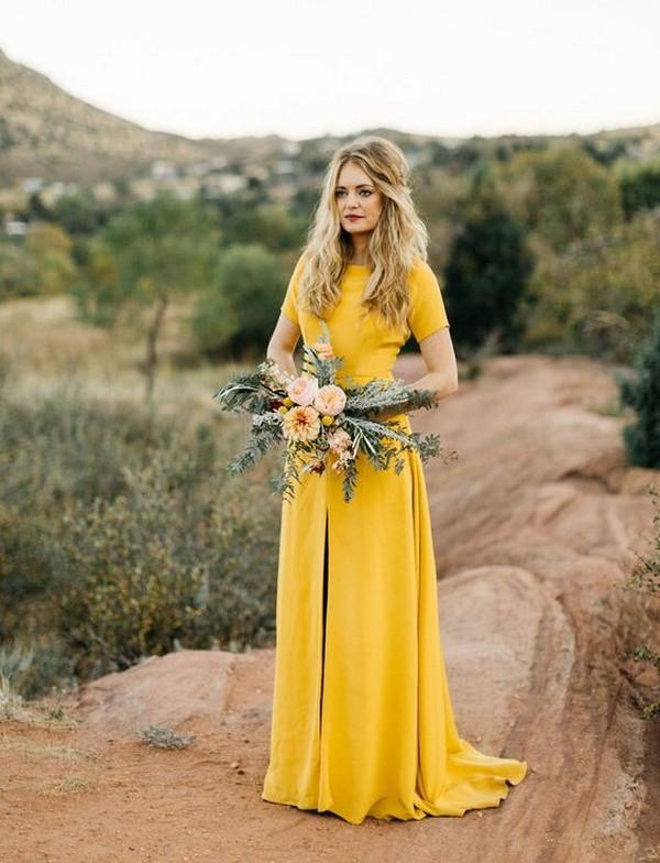 trending yellow bridesmaid dresses
