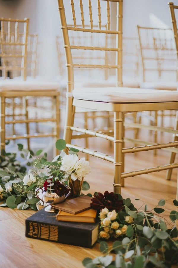 vintage wedding aisle decoration ideas