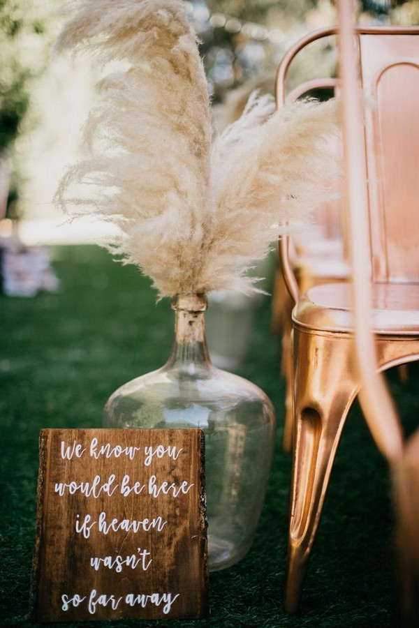 wedding aisle decoration ideas for autumn weddings