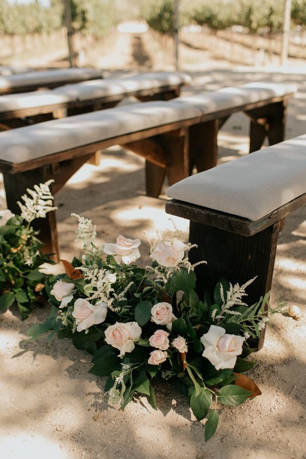 wedding aisle decoration ideas with roses