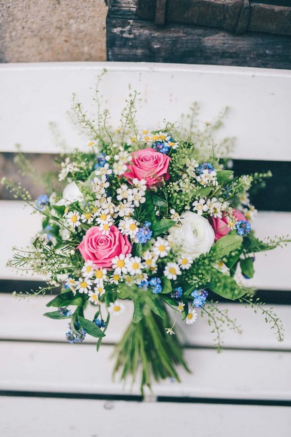 wedding bouquet for spring and summer