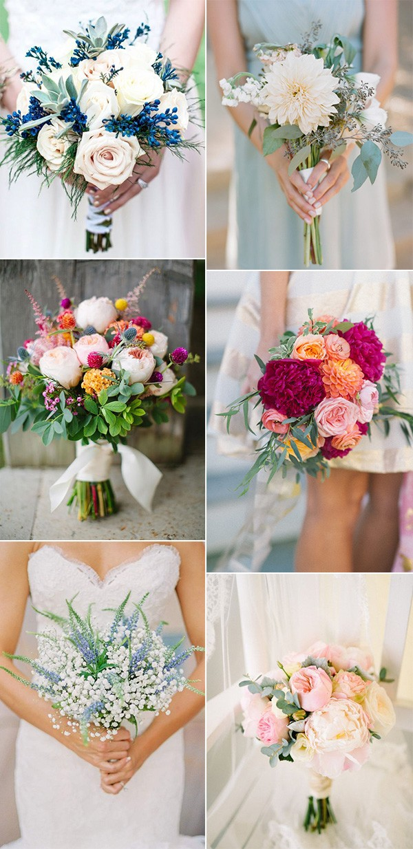 wedding bouquets for spring and summer