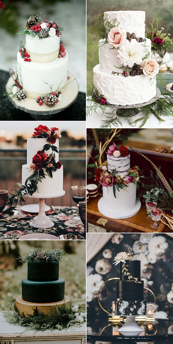 wedding cake ideas for winter