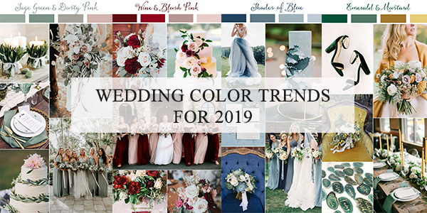 wedding color trends for 2019