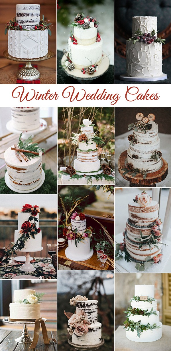 winter wedding cakes for 2018 and 2019