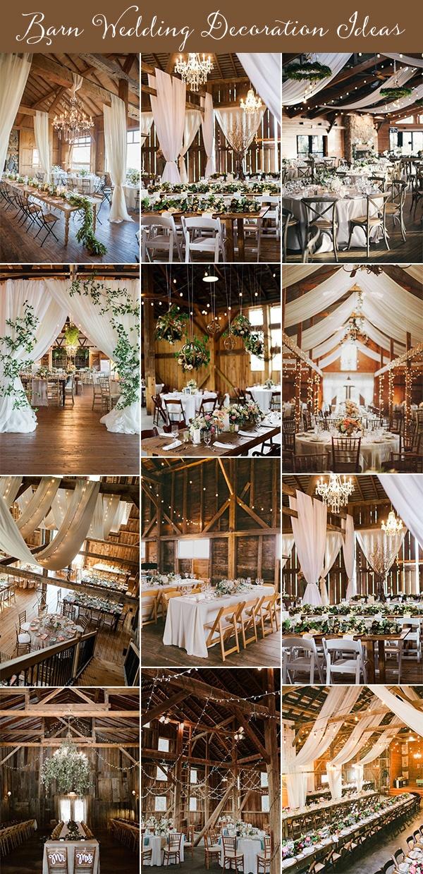 barn wedding decoration ideas