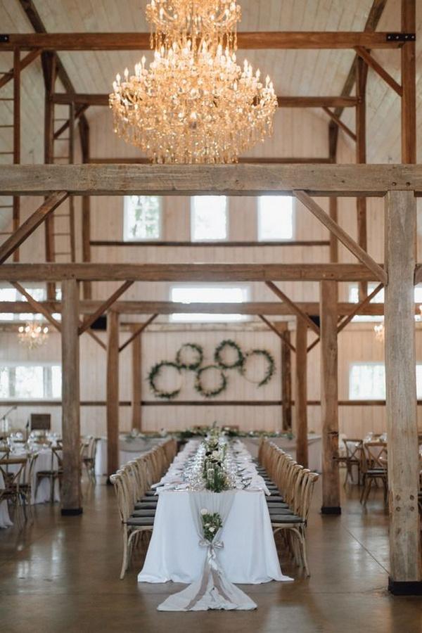 barn wedding reception decor ideas