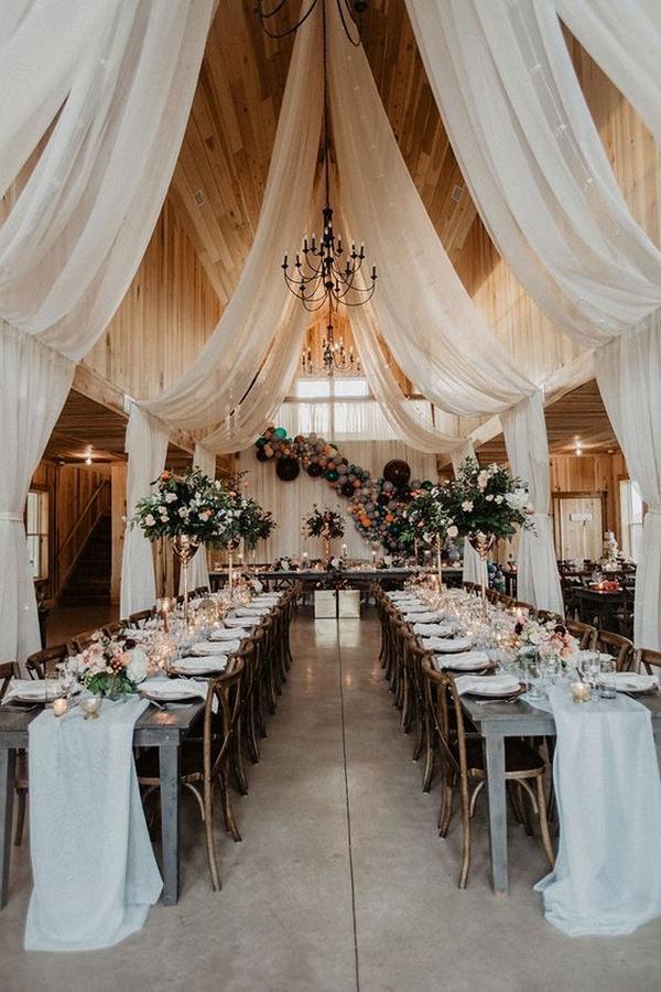 boho chic barn wedding reception ideas