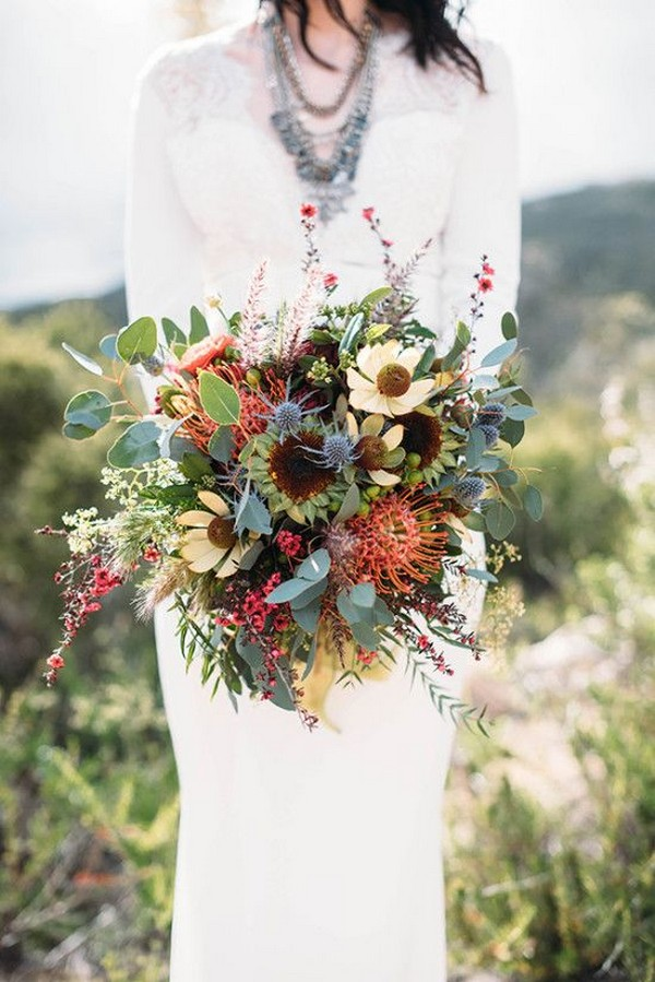 boho chic wedding bouquet
