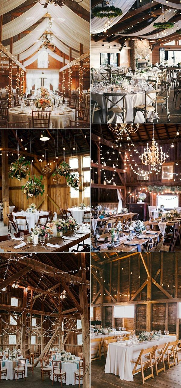 chic barn wedding lighting ideas