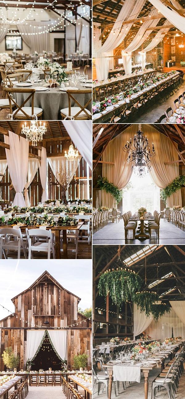 chic rustic barn wedding decoration ideas