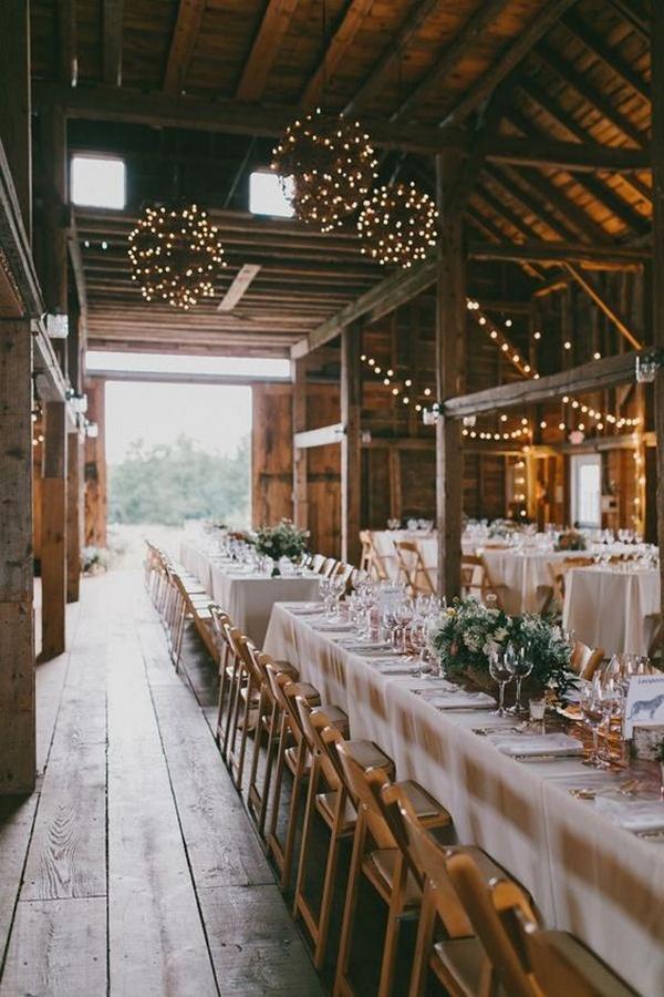 chic rustic barn wedding reception ideas