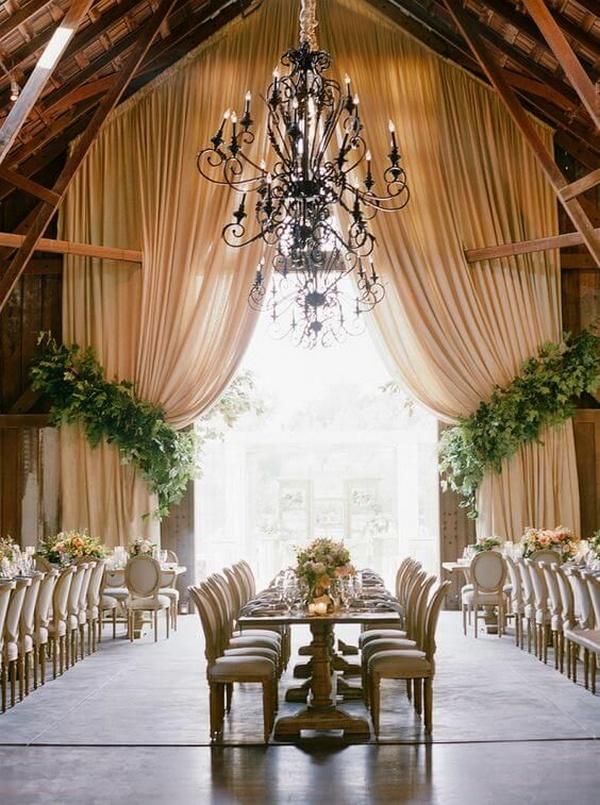 chic vintage barn wedding reception ideas
