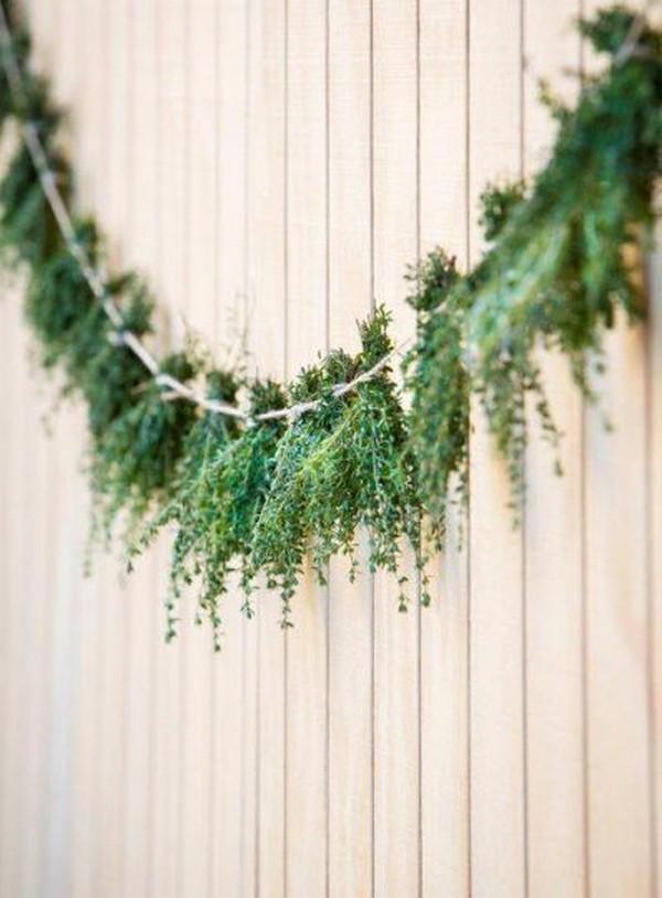 ecofriendly greenery wedding decorations