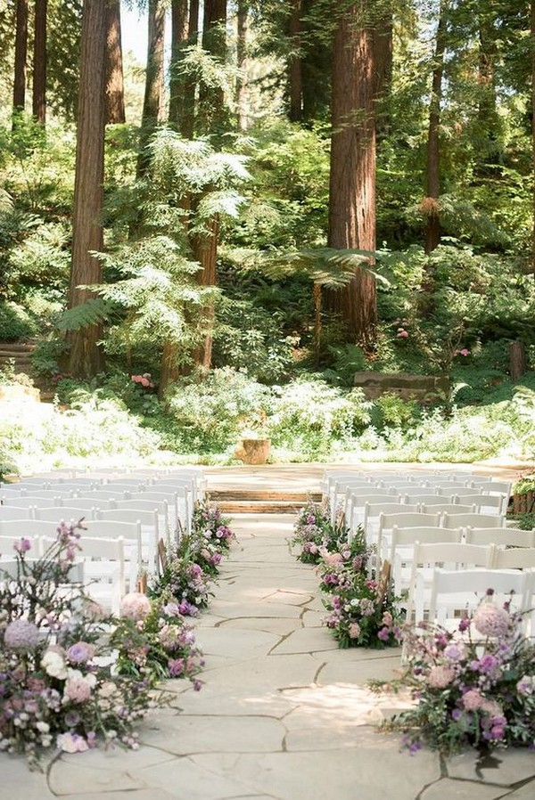Fairytale Forest Themed Wedding Ceremony Ideas