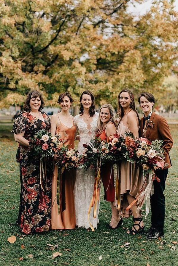 fall bridesmaid dress ideas