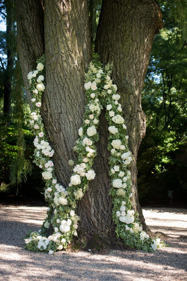 flower garland wedding decoration ideas