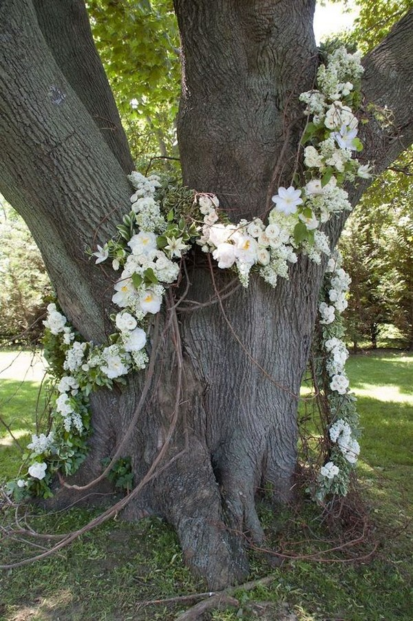 flower garland wedding decorations