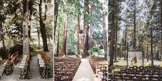 forest woodland wedding ceremony ideas