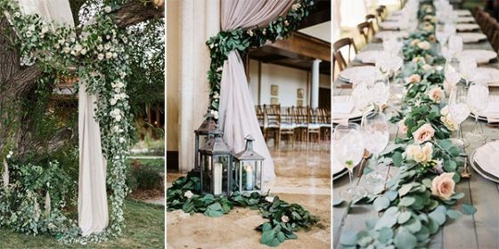 garland wedding decoration ideas