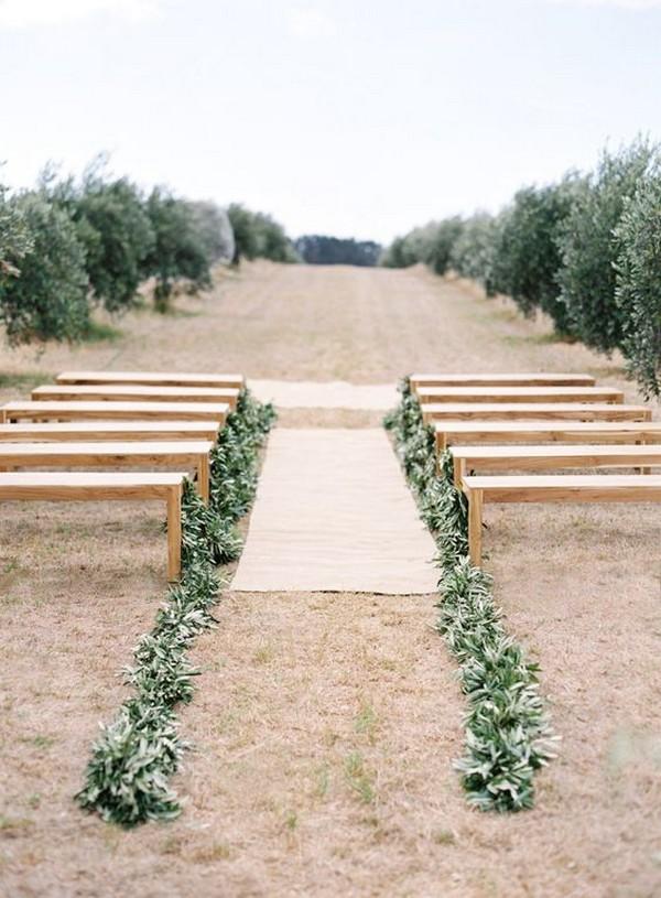 garlands wedding aisle decoration ideas