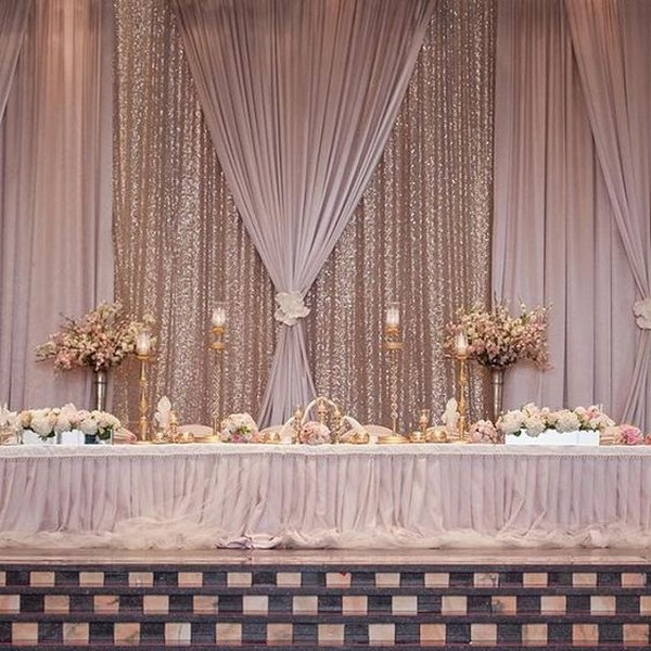 Wedding Backdrop Ideas: 18 Amazing Wedding Head Table Backdrop Decoration Ideas