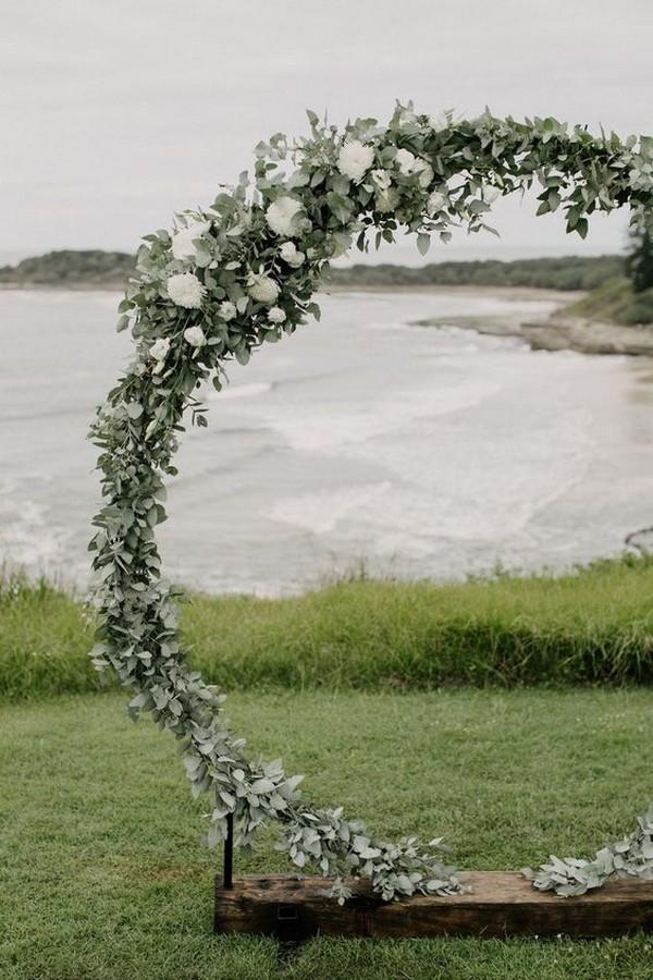 greenery garland wedding arch