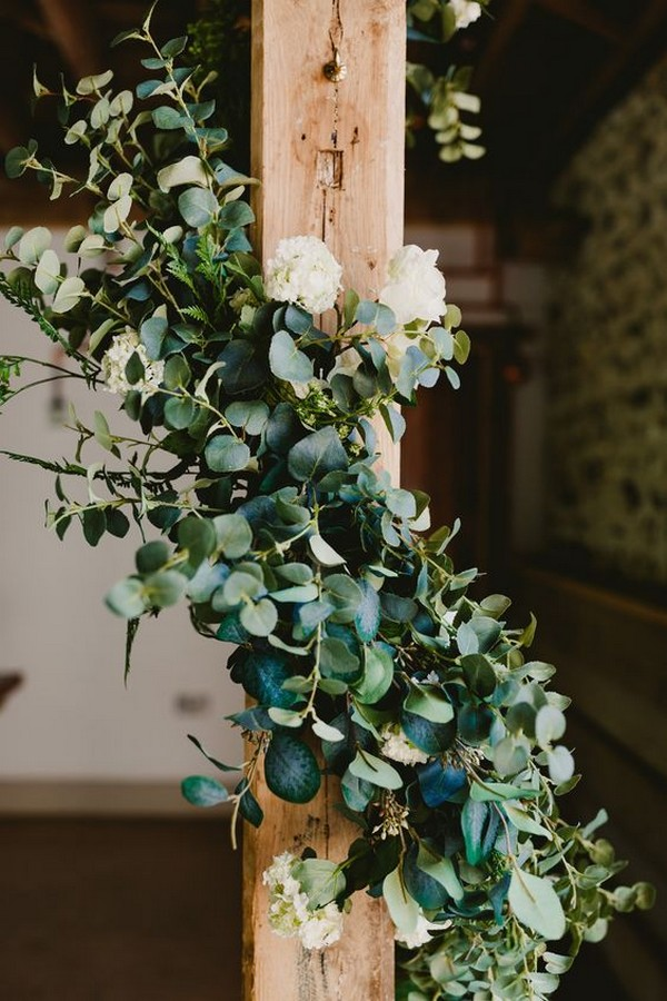 greenery garland wedding decorations