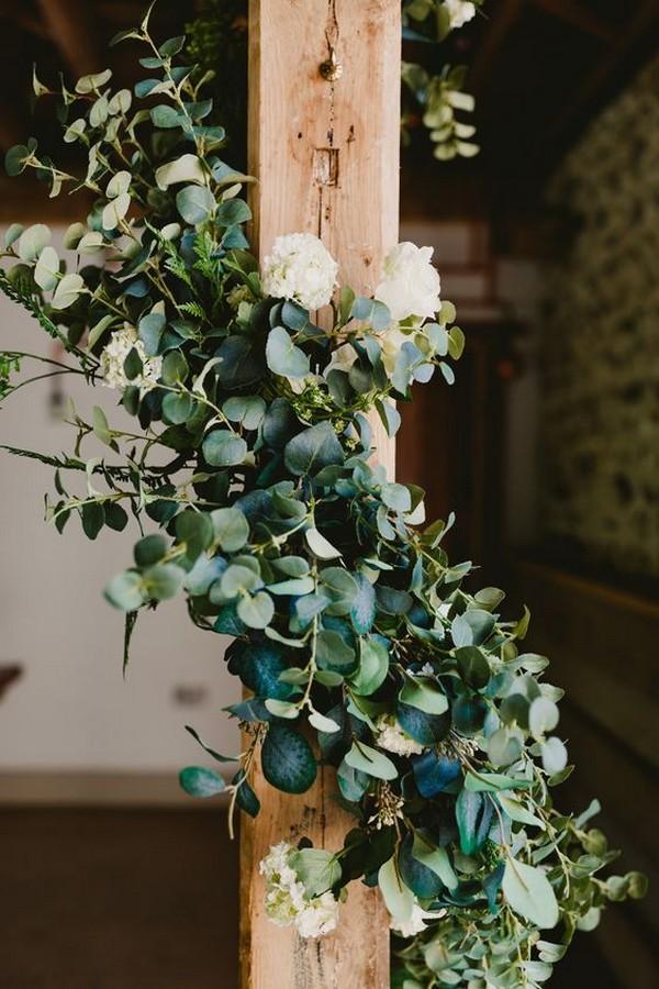 greenery garland wedding decorations