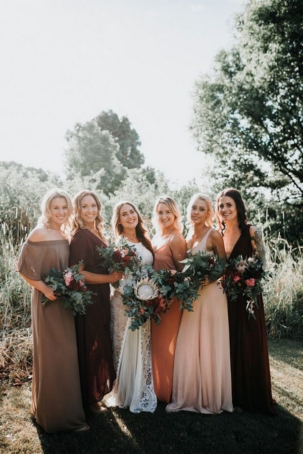 mismatch bridesmaid dresses ideas
