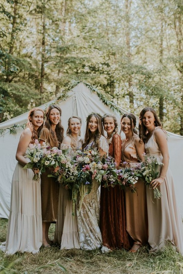 mismatched bridesmaid dresses for fall