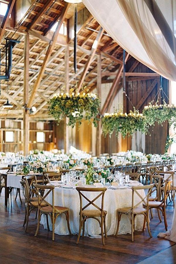 rustic chic barn wedding decoration ideas