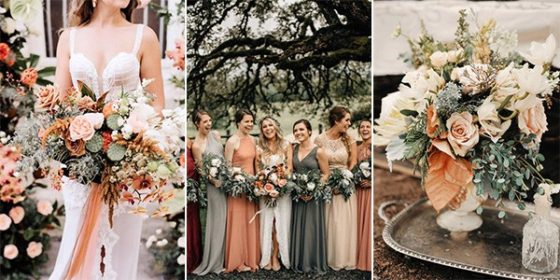 sunset orange wedding color ideas