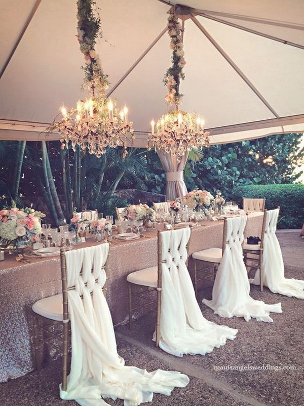 tented wedding head table decoration ideas